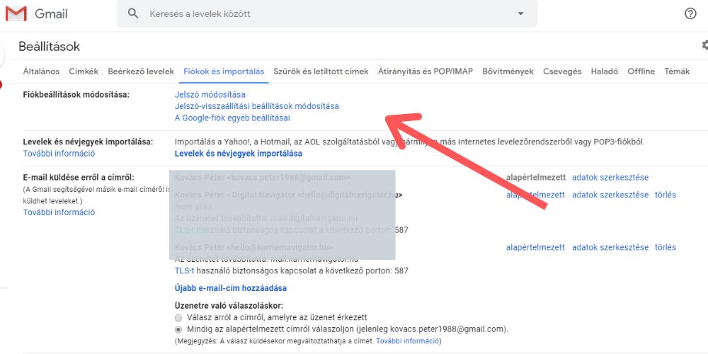 Gmail jelszó