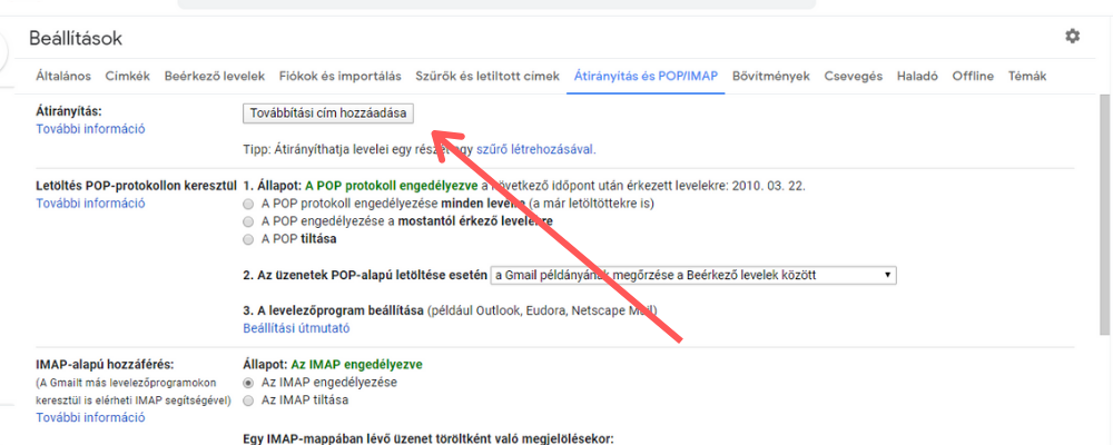 Gmail automatikus továbbítás