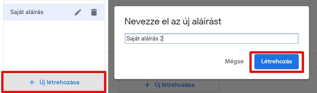 Gmail aláírás