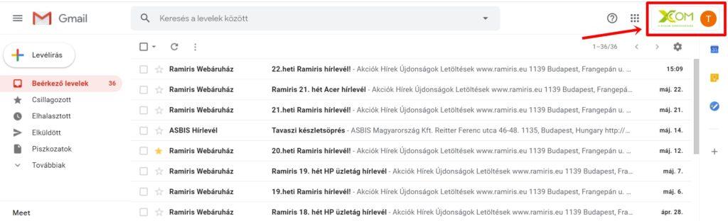 Gmail fiók hozzáadása