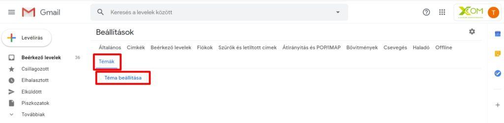 Gmail témák