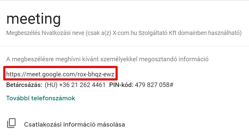 Goog Meet link