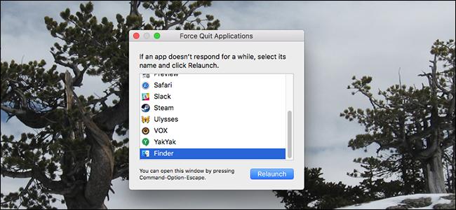 Alkalmazások kényszerített leállítása MAC-en