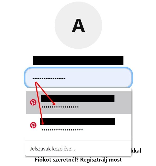A Google automatikusan kitölti a belépéshez szükséges adatokat