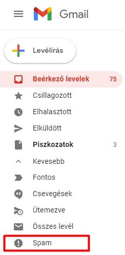 Gmail spam mappa