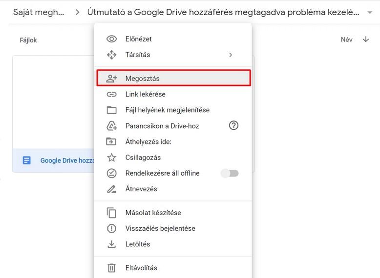 Miért kaphatunk a hozzáférés megtagadva a következőhöz üzenetet a Google Drive-tól?