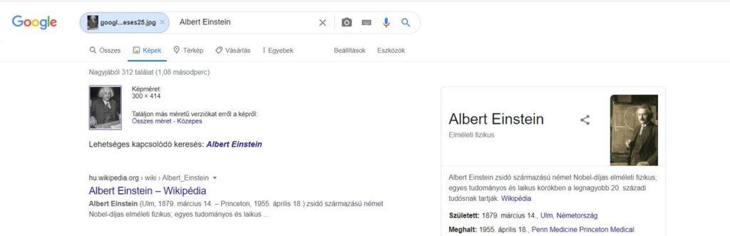 Híre személyek felismerése a Google-ben