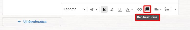 Kép beszúrása egy Gmail aláírásba